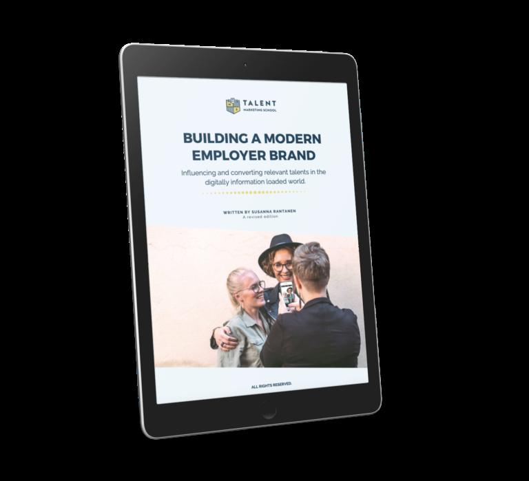 eBook cover Building a Modern Employer Brand with Susanna Rantanen